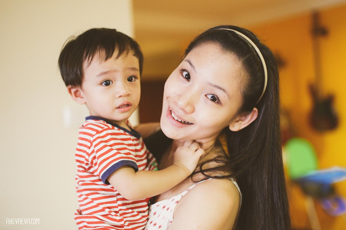 Darling Wong Mun Lok & Mom