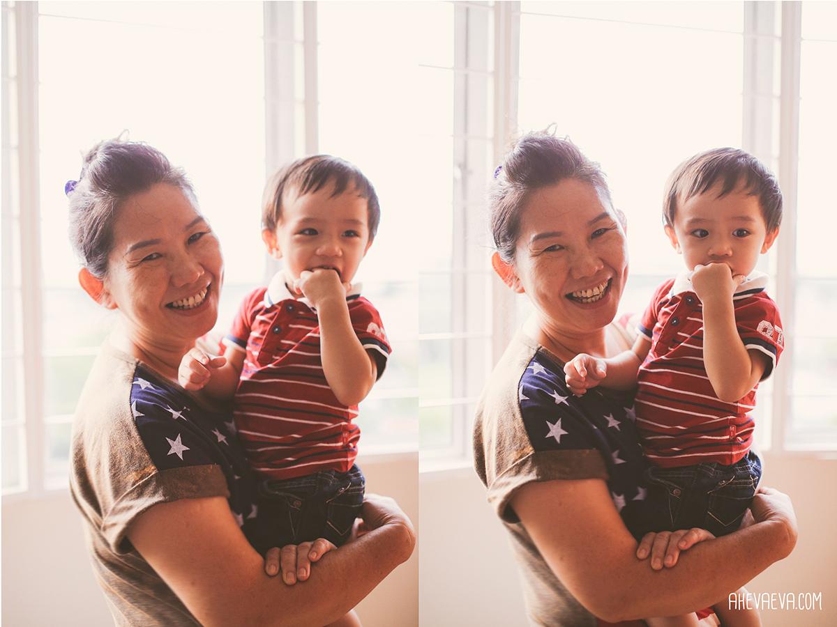Darling Wong Mun Lok & popo