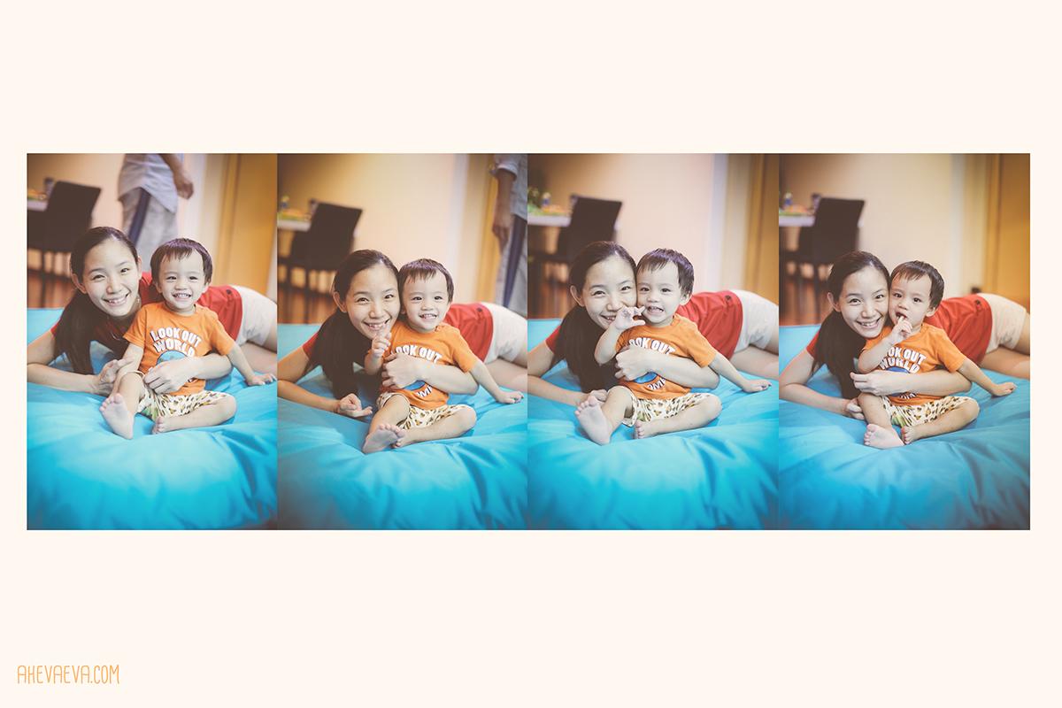 Darling Wong Mun Lok & mommy